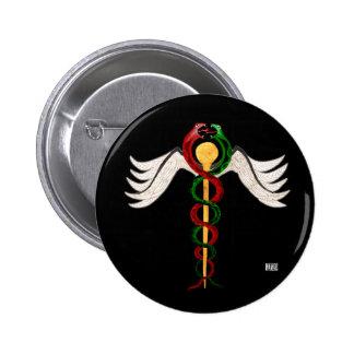 The Caduceus Pinback Button