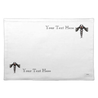 The Caduceus (Subdued) Cloth Placemat