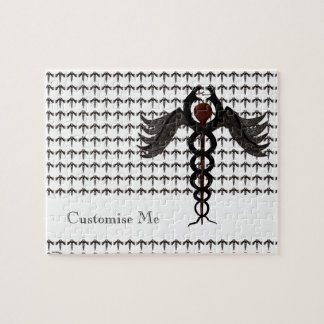 The Caduceus (Subdued) Jigsaw Puzzle