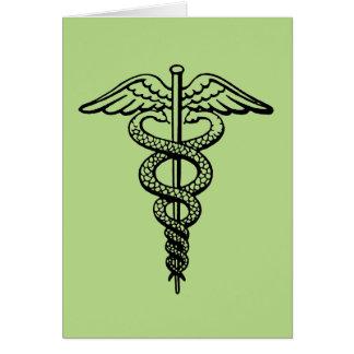 The Caduceus Symbol Card
