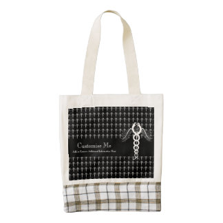 The Caduceus (White) Zazzle HEART Tote Bag