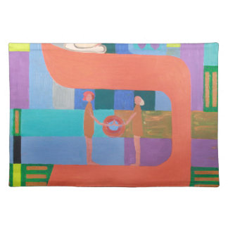 The Caf Letter - Hebrew Alphabet Cloth Placemat