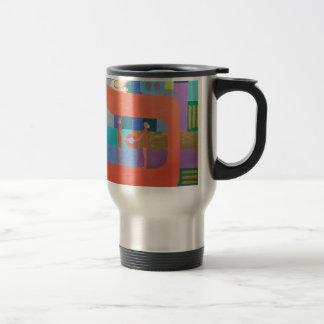 The Caf Letter - Hebrew Alphabet Travel Mug