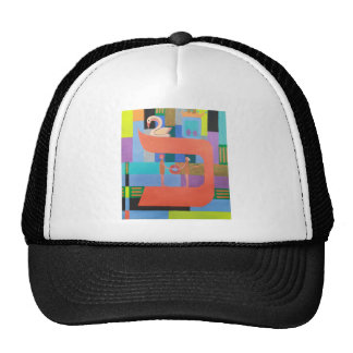 The Caf Letter - Hebrew Alphabet Trucker Hat