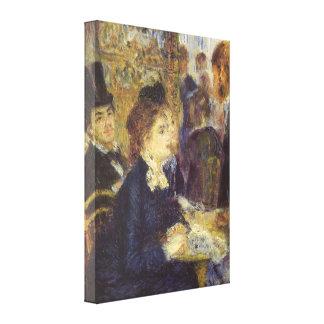 The Cafe by Pierre Renoir, Vintage Impressionism Canvas Print
