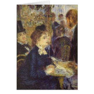The Cafe by Pierre Renoir, Vintage Impressionism Card