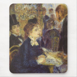 The Cafe by Pierre Renoir, Vintage Impressionism Mouse Pad