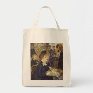 The Cafe by Renoir, Vintage Impressionism Art Canvas Bag