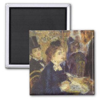 The Cafe by Renoir, Vintage Impressionism Art Fridge Magnet