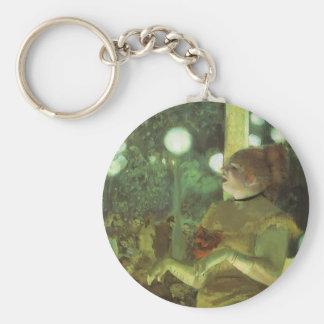 The Cafe Concert by Edgar Degas, Vintage Fine Art Keychain