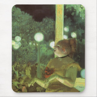 The Cafe Concert by Edgar Degas, Vintage Fine Art Mouse Pad
