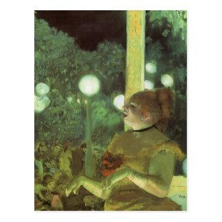 The Cafe Concert by Edgar Degas, Vintage Fine Art Postcard