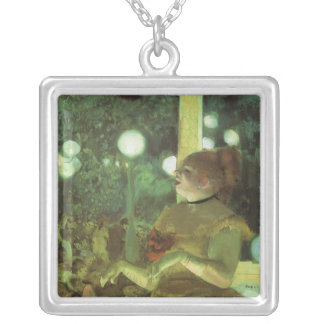 The Cafe Concert by Edgar Degas, Vintage Fine Art Silver Plated Necklace
