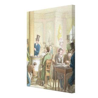 The Cafe de Commerce, from 'Tableau de Paris' Canvas Print