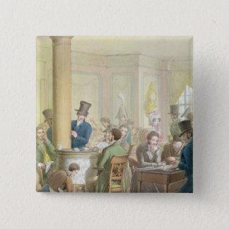 The Cafe de Commerce, from 'Tableau de Paris' Pinback Button