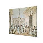 The Cafe Frascati in 1807 Canvas Print