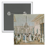 The Cafe Frascati in 1807 Pinback Button