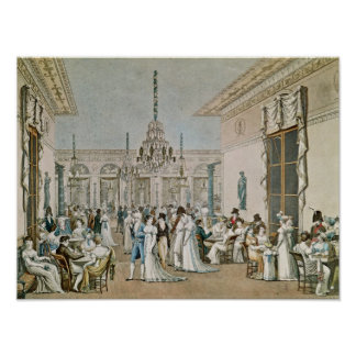The Cafe Frascati in 1807 Poster