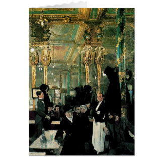 The Café Royal, London by William Orpen (1912) Card