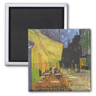 The Cafe Terrace 2 Inch Square Magnet