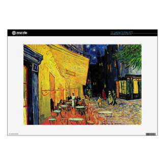 """The cafe terrace on the place du forum, Arles, at 15"""" Laptop Decals"""