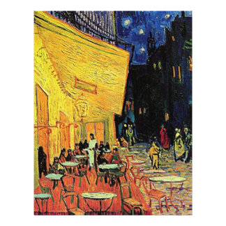 The cafe terrace on the place du forum, Arles, at Flyer
