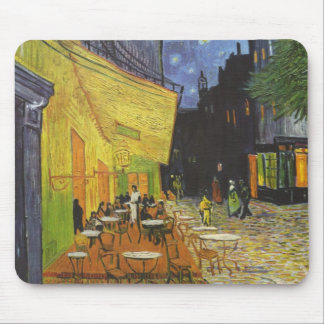 The Cafe Terrace on the place Du forum, arles Mouse Pad
