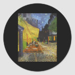 The Cafe Terrace on the Place du Forum Round Sticker