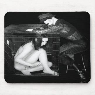 The Cage 1 - Self Portrait Mouse Pads