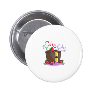 THE CAKE LADY 2 INCH ROUND BUTTON