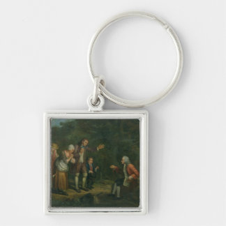 The Calas Family before Voltaire at Ferney Keychain