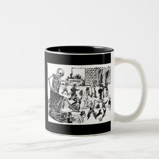 The Calavera General of the Graveyard Two-Tone Coffee Mug