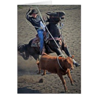 The Calf Roper Greeting Cards