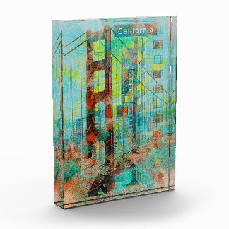 The California Love Bridge of SanFrancisco Acrylic Award