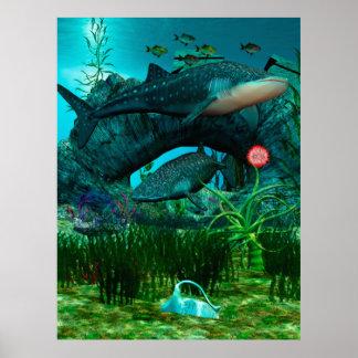 The Call Aquatic Life Digital Fantasy Poster