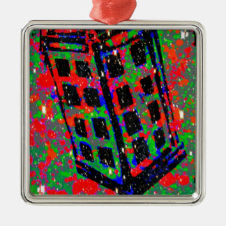 The Call Box Phone Booth by Kara Willis Christmas Ornament