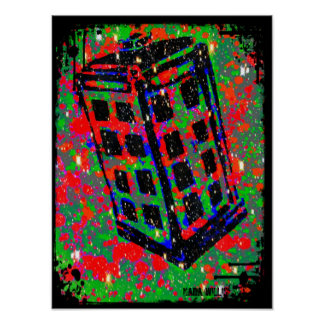 The Call Box Phone Booth by Kara Willis Poster