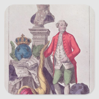 The Call of Jacques Necker  16th July 1789 Square Sticker