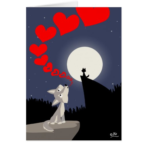 The Call of Love greeting card