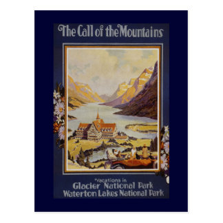"""The Call of the Mountains"" Vintage Travel Postcard"