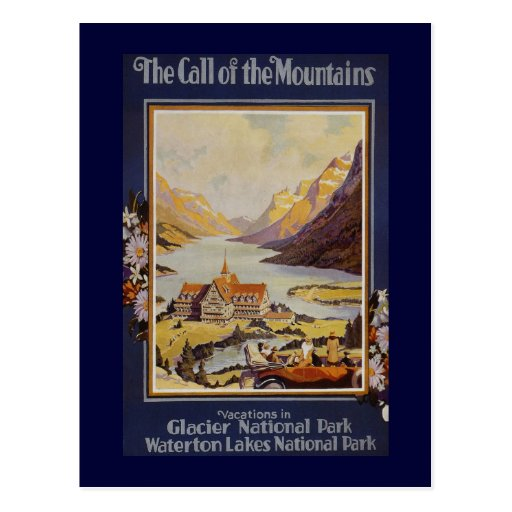 """""""The Call of the Mountains"""" Vintage Travel Postcard"""