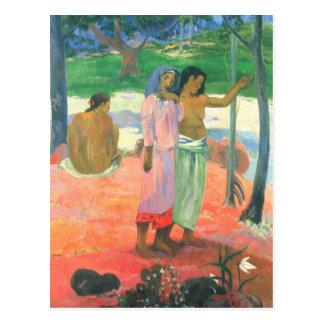 The call - Paul Gauguin Postcard