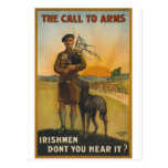 The call to arms, Irish world war Postcard