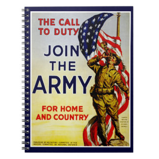 The Call to Duty ~ Join the Army Notebook