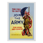 The Call To Duty-Join The Army Poster