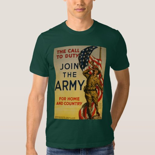 The Call to Duty - Join the Army T-shirts