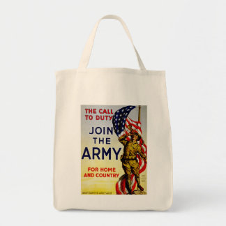 The Call to Duty ~ Join the Army Tote Bag