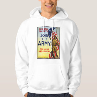 The call to duty – Join the Army WWI Poster Hoodie