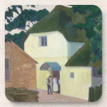 The Caller at the Mill (oil on canvas) Coaster
