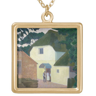The Caller at the Mill (oil on canvas) Pendant